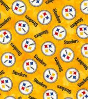 """Pittsburgh Steelers Flannel Fabric 42"""" Tie Dye, , hi-res"""
