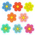 Jesse James Dress It Up Flower Button Embellishments-Polka Dots