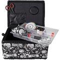 Singer Sewing Basket-Fragrant Black & White