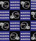 Baltimore Ravens Fleece Fabric 58\u0022-Block