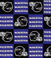 Baltimore Ravens Fleece Fabric -Block, , hi-res