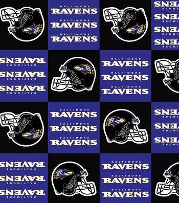 "Baltimore Ravens Fleece Fabric 58""-Block"