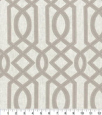 """Waverly Upholstery Fabric 13x13"""" Swatch-Cutout Emb Sterling"""