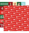 Santa\u0027s Workshop Double-Sided Cardstock 12\u0022X12\u0022-Dash Away