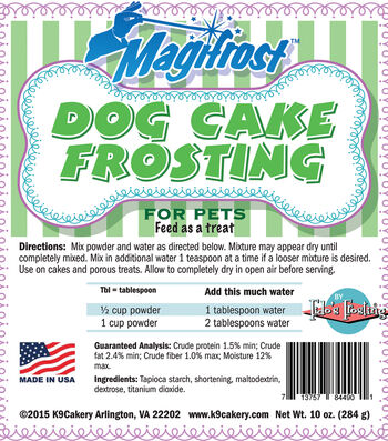 K9 Cakery Magifrost 10 oz. Tapioca Dog Cake Frosting