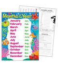 Months of the Year Sea Buddies Learning Chart 17\u0022x22\u0022 6pk