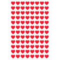 Red Hearts superShapes Stickers 800 Per Pack, 12 Packs