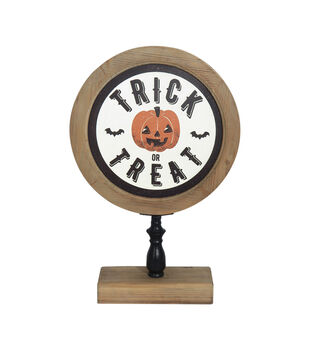 Maker's Halloween 14''x22'' Round Tabletop Decor-Trick or Treat