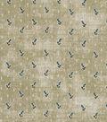 Vintage Cotton Fabric 43\u0022-Raindrop Floral Tan