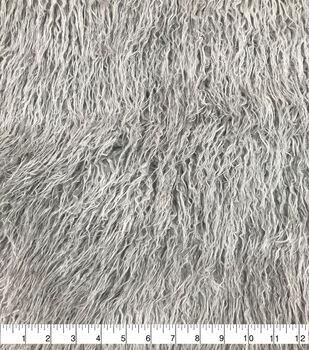 Long Crinkle Faux Fur Fabric-Dark Gray