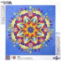 Leisure Arts Diamond Art Intermediate Kit 12\u0027\u0027X12\u0027\u0027-Blue Mandala