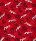 2 Yard Pre-Cut Cleveland Indians Flannel Fabric Remnant-Tie Dye