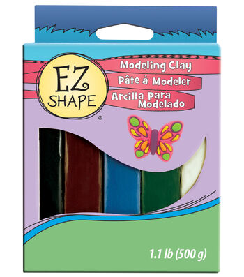 Non-Drying Modeling Clay 1 Pound-5/Colorset Natura
