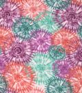 Anti-Pill Plush Fleece Fabric-Spring Tie Dye