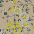 Spring Garden Crinkle Cotton Fabric-Pink Mini Daisy