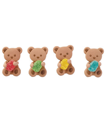 Wilton 12 Pack Icing Decoration-Teddy Bear with Gum Drop
