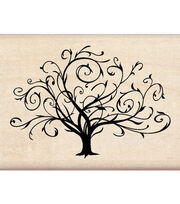 Inkadinkado Rubber Stamp-Flouished Fall Tree, , hi-res