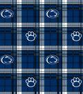 Penn State University Nittany Lions Fleece Fabric 60\u0022-Plaid