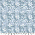 Holiday Cotton Fabric -Blue Snowflake