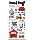 Sandylion 5.5\u0027\u0027x12\u0027\u0027 Clear Stickers-Dog Phrases