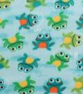 Blizzard Fleece Fabric -Smiling Froggies