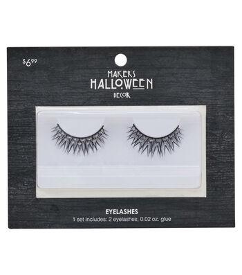 Maker's Halloween Black Criss-Cross Eyelashes & Glue