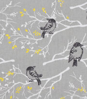 Keepsake Calico Cotton Fabric -Black Birds on Branches, , hi-res