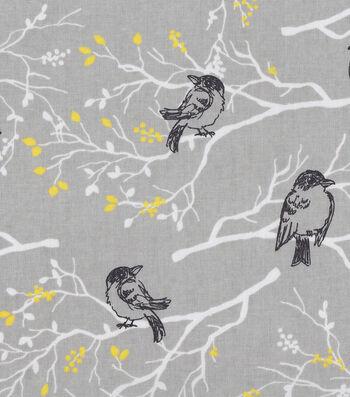 Keepsake Calico Cotton Fabric -Black Birds on Branches