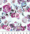 Premium Quilt Cotton Fabric-Watercolor Floral on Light Pearl