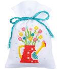Vervaco Sachet Bags Counted Cross Stitch Kit 3.25\u0027\u0027X4.75\u0027\u0027-Spring