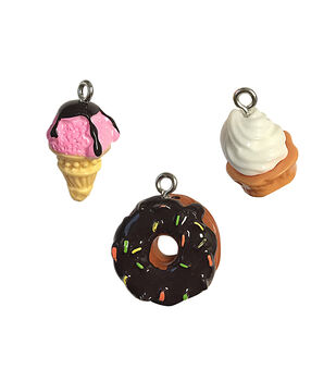 Blue Moon Beads Charm Acrylic Ice Cream and Donuts