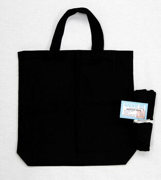 "Medium Tote 13.5""X13.5""X2""-Black"