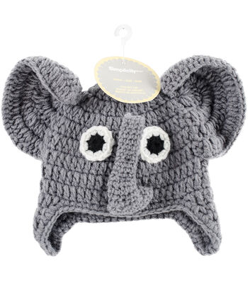 Crocheted Hats For Babies-Elephant
