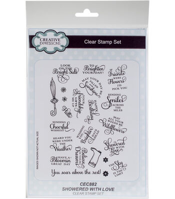 Creative Expressions 23 pk Clear Stamp Set-Showered with Love