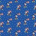 Disney Mickey Mouse Cotton Fabric-Team USA Flag