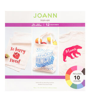 Joann Iron-On Sheets-Solid
