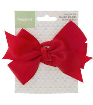 Simplicity Large Grosgrain Bow-Red