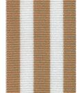 Offray Woven Ribbon 1.5\u0027\u0027x9\u0027-Oatmeal & White Stripes