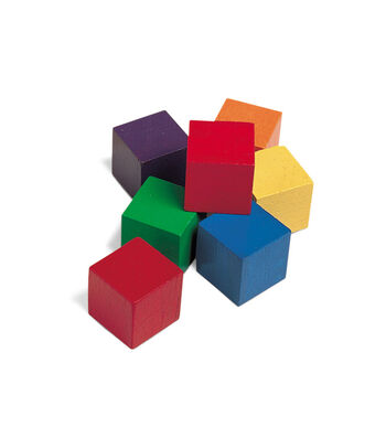 1-Inch Wooden Color Cube, Set of 102 Blocks