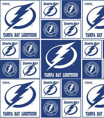 Tampa Bay Lightning Cotton Fabric -Block