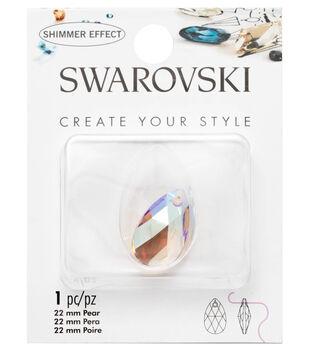 Swarovski Create Your Style 22mm Pear Pendant-Crystal