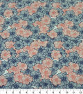 Quilter\u0027s Showcase Cotton Fabric-Lined Flowers Red Navy