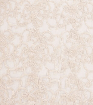 Tapestry Embroidery Fabric-Champagne