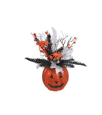 Maker's Halloween Jack-o'-Lantern Pumpkin Arrangement