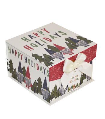 Maker's Holiday Christmas Small Mini Fliptop Storage Box-Gnome