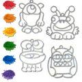 Craft EZ Oven Crystal Creations Light Catchers-Monster