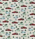 Snuggle Flannel Fabric-Multi Vehicle Christmas Tree