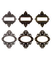 Tim Holtz Idea-Ology Ornate Plates Antique Metallic, , hi-res