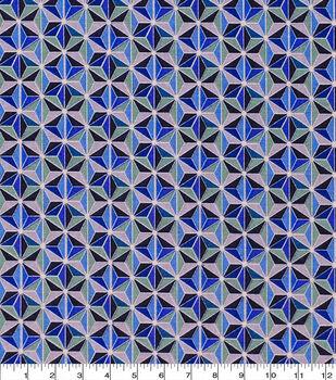 Keepsake Calico Cotton Fabric-Faceted Geo Blue