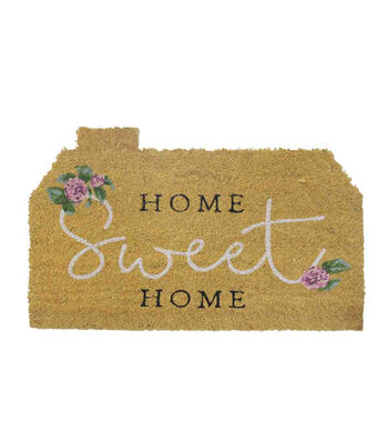 In the Garden Tufted Coir Mat-Home Sweet Home on Natural